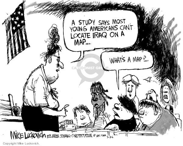 Cartoonist Mike Luckovich  Mike Luckovich's Editorial Cartoons 2006-05-03 school