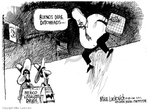 Cartoonist Mike Luckovich  Mike Luckovich's Editorial Cartoons 2006-05-04 pain