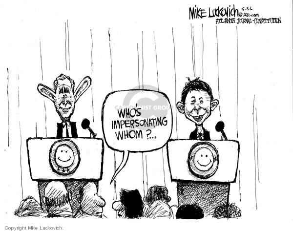 Cartoonist Mike Luckovich  Mike Luckovich's Editorial Cartoons 2006-05-05 Presidency