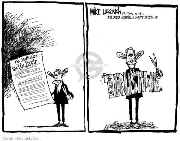 Cartoonist Mike Luckovich  Mike Luckovich's Editorial Cartoons 2006-05-19 civil liberty