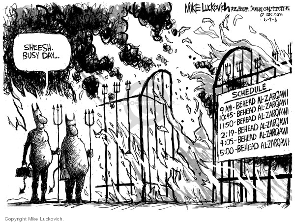 Cartoonist Mike Luckovich  Mike Luckovich's Editorial Cartoons 2006-06-09 fifty