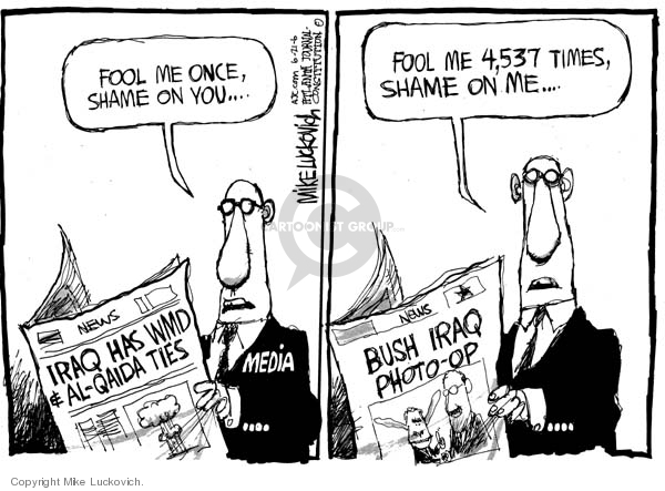 Mike Luckovich  Mike Luckovich's Editorial Cartoons 2006-06-21 media credibility