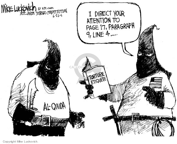 Cartoonist Mike Luckovich  Mike Luckovich's Editorial Cartoons 2006-06-22 attention