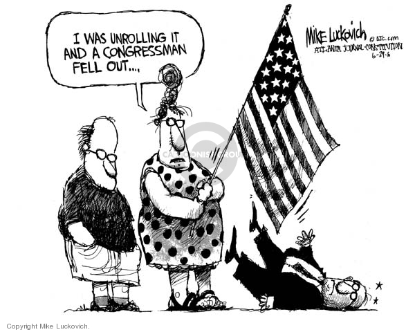 Cartoonist Mike Luckovich  Mike Luckovich's Editorial Cartoons 2006-06-29 civil