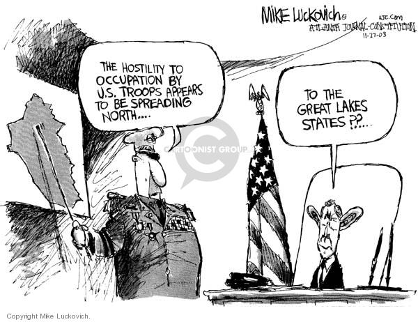 Cartoonist Mike Luckovich  Mike Luckovich's Editorial Cartoons 2006-07-17 spread