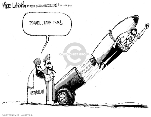 Cartoonist Mike Luckovich  Mike Luckovich's Editorial Cartoons 2006-08-01 Gibson