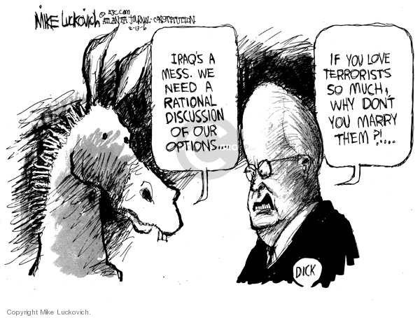 Cartoonist Mike Luckovich  Mike Luckovich's Editorial Cartoons 2006-08-13 communication