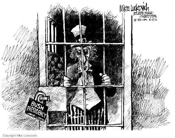 Cartoonist Mike Luckovich  Mike Luckovich's Editorial Cartoons 2006-08-23 Presidency