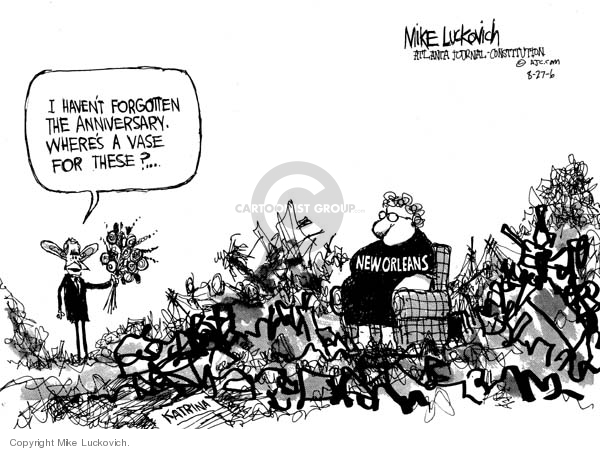 Mike Luckovich  Mike Luckovich's Editorial Cartoons 2006-08-25 flower bouquet