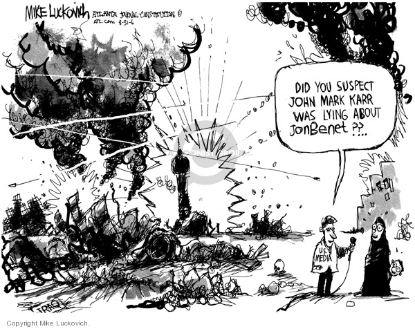 Cartoonist Mike Luckovich  Mike Luckovich's Editorial Cartoons 2006-08-31 distract