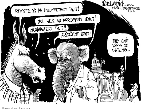 Mike Luckovich  Mike Luckovich's Editorial Cartoons 2006-09-10 republican politician