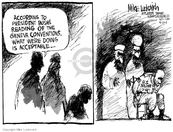 Cartoonist Mike Luckovich  Mike Luckovich's Editorial Cartoons 2006-09-16 political convention