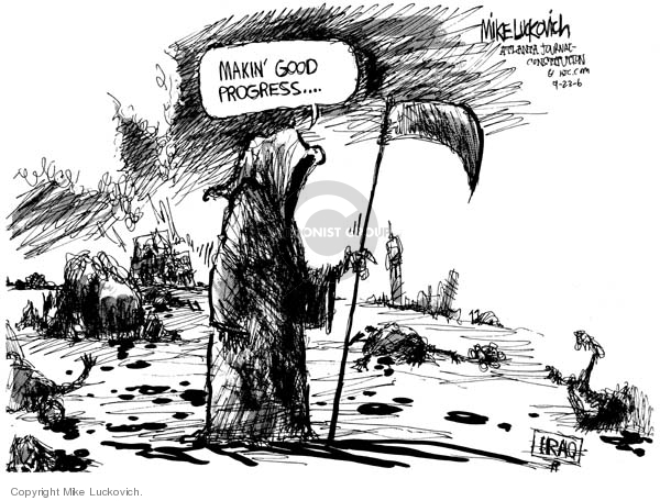 Mike Luckovich  Mike Luckovich's Editorial Cartoons 2006-09-22 sectarian violence