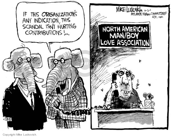 Mike Luckovich  Mike Luckovich's Editorial Cartoons 2006-10-03 republican politician