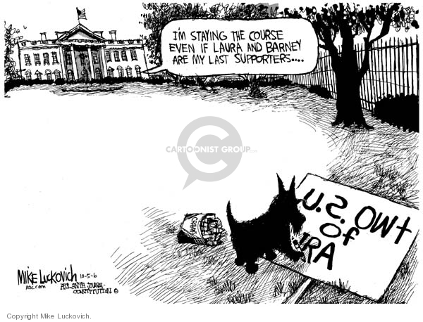 Cartoonist Mike Luckovich  Mike Luckovich's Editorial Cartoons 2006-10-05 first lady