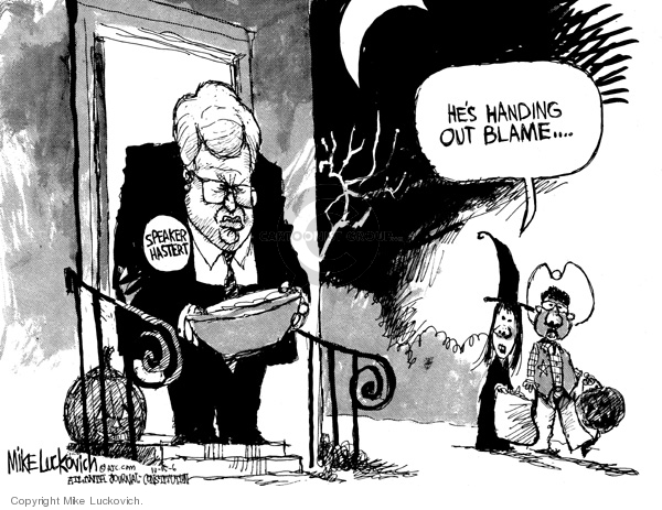 Cartoonist Mike Luckovich  Mike Luckovich's Editorial Cartoons 2006-10-13 responsible