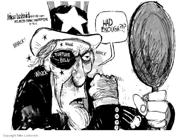 Cartoonist Mike Luckovich  Mike Luckovich's Editorial Cartoons 2006-10-18 judicial branch