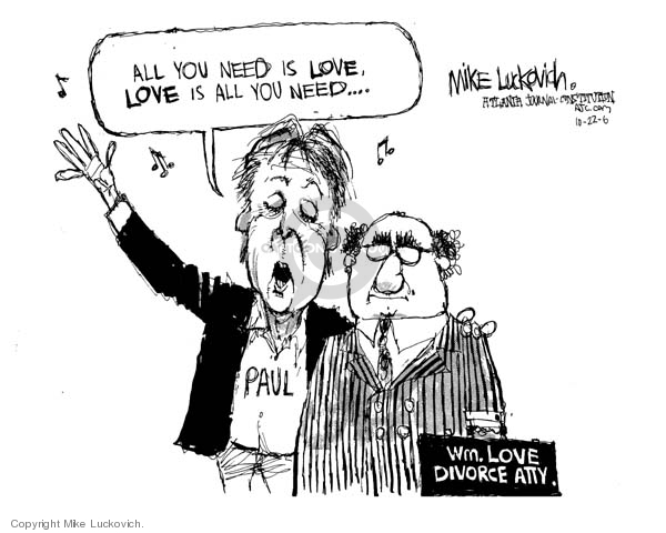 Mike Luckovich  Mike Luckovich's Editorial Cartoons 2006-10-23 lawyer