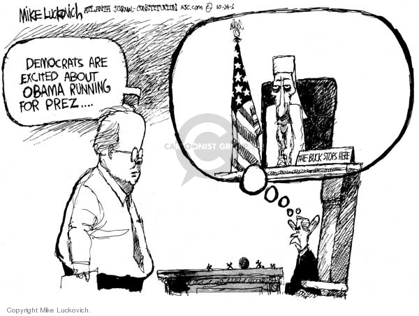Mike Luckovich  Mike Luckovich's Editorial Cartoons 2006-10-24 Obama terrorism