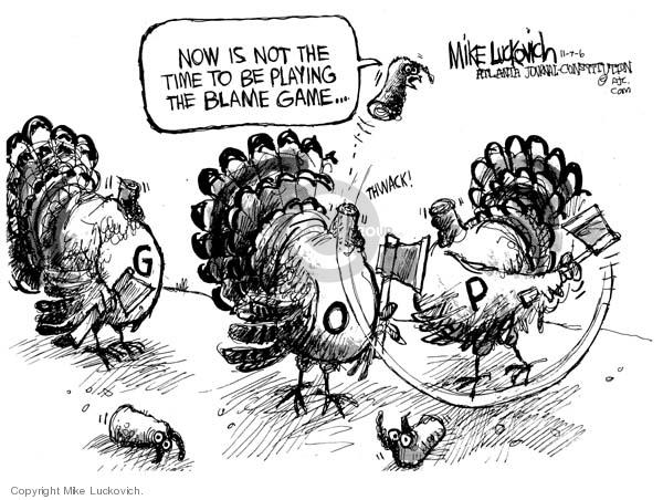 Mike Luckovich  Mike Luckovich's Editorial Cartoons 2006-11-07 republican politician