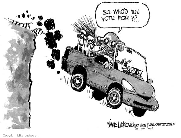 Mike Luckovich  Mike Luckovich's Editorial Cartoons 2006-11-08 cliff