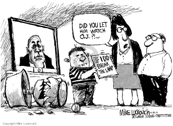 Cartoonist Mike Luckovich  Mike Luckovich's Editorial Cartoons 2006-11-17 accident