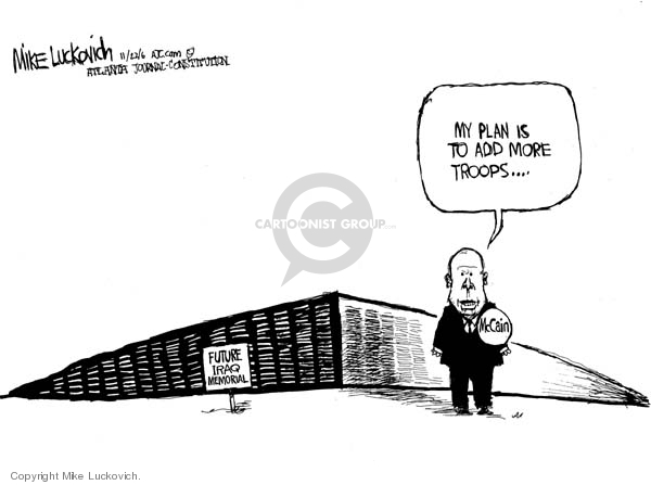 Cartoonist Mike Luckovich  Mike Luckovich's Editorial Cartoons 2006-11-22 number
