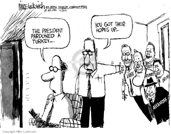 Cartoonist Mike Luckovich  Mike Luckovich's Editorial Cartoons 2006-11-23 CIA leak investigation