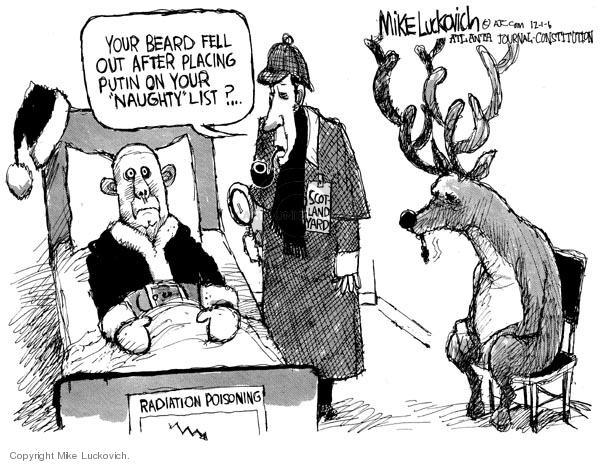 Cartoonist Mike Luckovich  Mike Luckovich's Editorial Cartoons 2006-12-01 hospital