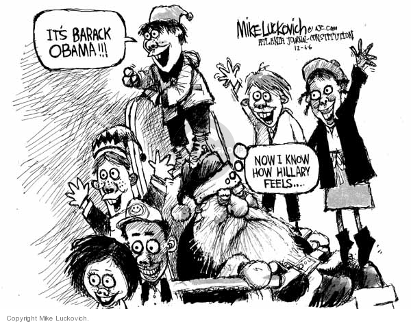 Mike Luckovich  Mike Luckovich's Editorial Cartoons 2006-12-06 Barack Obama
