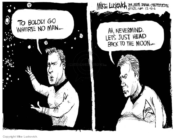 Mike Luckovich  Mike Luckovich's Editorial Cartoons 2006-12-10 space