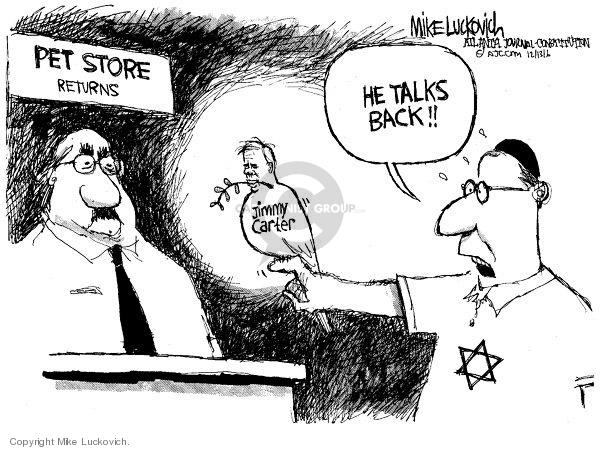 Mike Luckovich  Mike Luckovich's Editorial Cartoons 2006-12-13 Israel Palestine