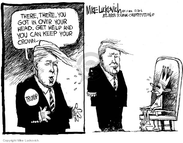Cartoonist Mike Luckovich  Mike Luckovich's Editorial Cartoons 2006-12-20 separation of powers