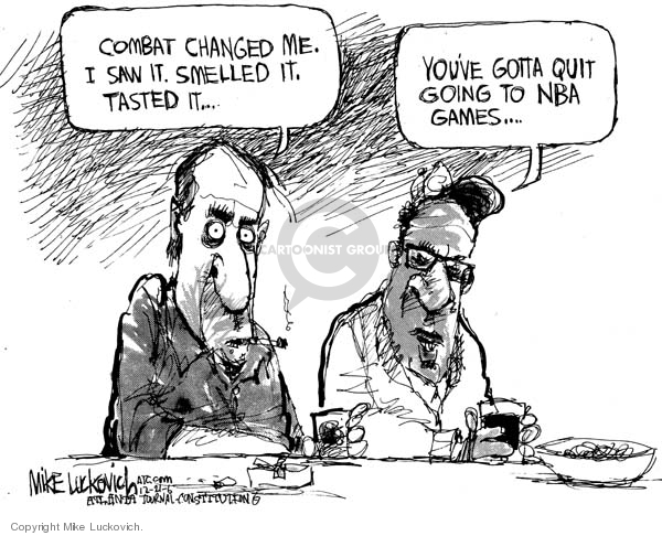 Cartoonist Mike Luckovich  Mike Luckovich's Editorial Cartoons 2006-12-21 combat