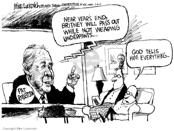 Cartoonist Mike Luckovich  Mike Luckovich's Editorial Cartoons 2007-01-04 communication