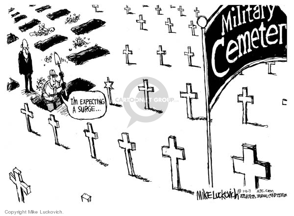 Military Cemetery.  Im expecting a surge.