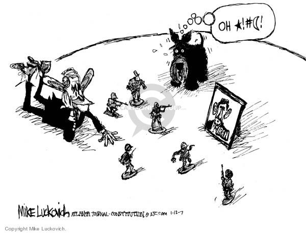 Mike Luckovich  Mike Luckovich's Editorial Cartoons 2007-01-12 Mahmoud Ahmadinejad