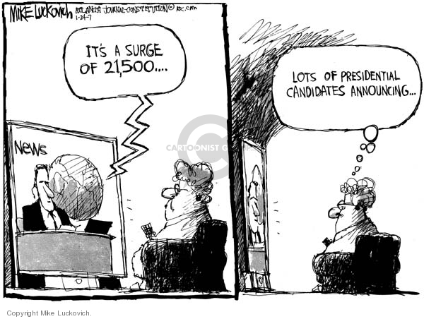 Cartoonist Mike Luckovich  Mike Luckovich's Editorial Cartoons 2007-01-24 number