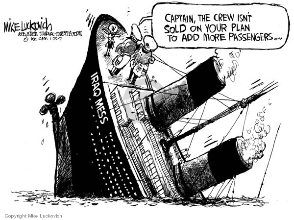 Mike Luckovich  Mike Luckovich's Editorial Cartoons 2007-01-25 sinking