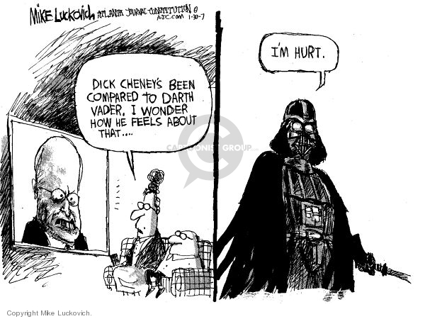 Cartoonist Mike Luckovich  Mike Luckovich's Editorial Cartoons 2007-01-30 Dick Cheney