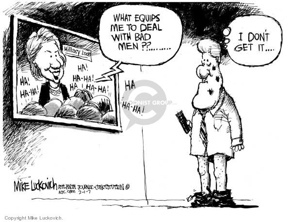 Mike Luckovich  Mike Luckovich's Editorial Cartoons 2007-02-01 Bill Clinton