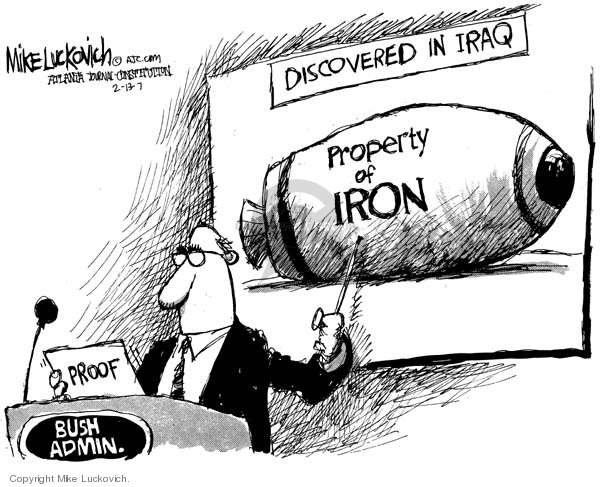 Mike Luckovich  Mike Luckovich's Editorial Cartoons 2007-02-13 evidence