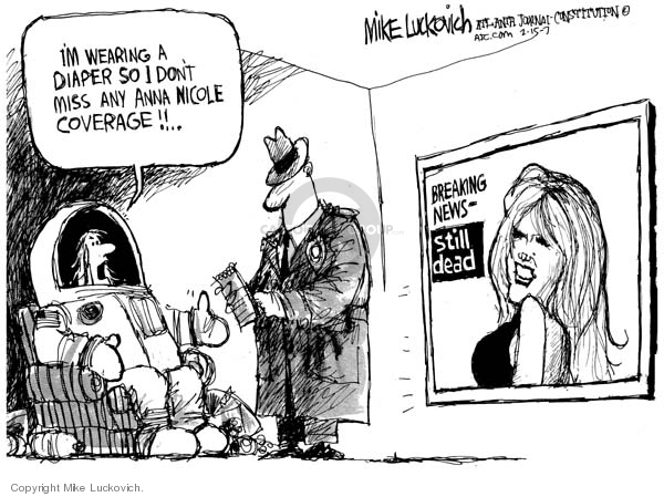 Cartoonist Mike Luckovich  Mike Luckovich's Editorial Cartoons 2007-02-15 cable television