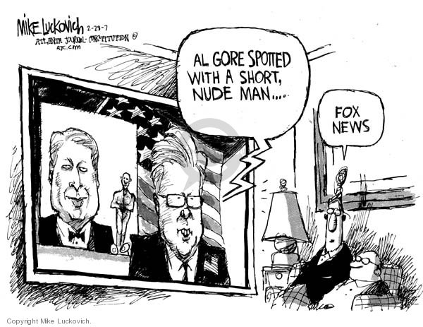 Mike Luckovich  Mike Luckovich's Editorial Cartoons 2007-02-28 Al Gore