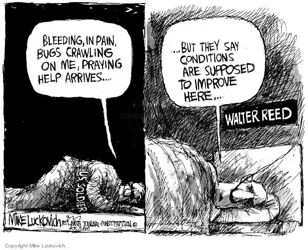 Cartoonist Mike Luckovich  Mike Luckovich's Editorial Cartoons 2007-03-02 veteran