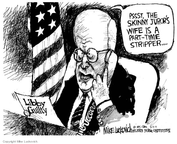 Cartoonist Mike Luckovich  Mike Luckovich's Editorial Cartoons 2007-03-07 CIA leak investigation