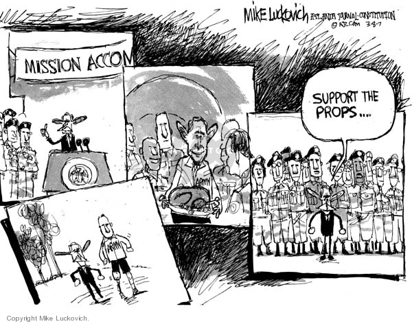 Mike Luckovich  Mike Luckovich's Editorial Cartoons 2007-03-08 soldier