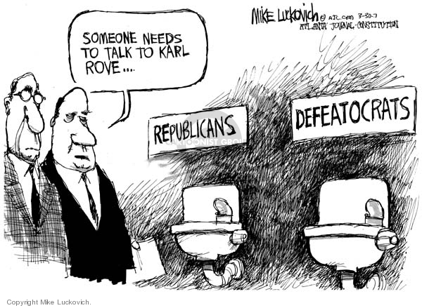 Mike Luckovich  Mike Luckovich's Editorial Cartoons 2007-03-30 men's room