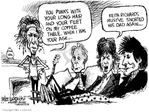 Cartoonist Mike Luckovich  Mike Luckovich's Editorial Cartoons 2007-04-06 drug
