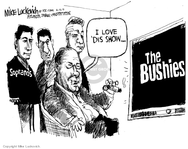 Mike Luckovich  Mike Luckovich's Editorial Cartoons 2007-04-11 loyalty